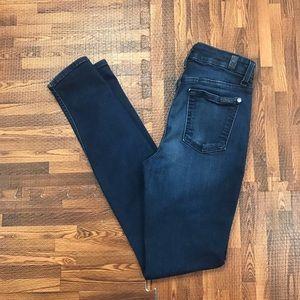 7FAMK Mid Rise Skinny Jeans